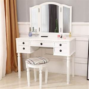Vanity, Sets, With, Mirror, And, Bench, Makeup, Vanity, Table, Set, Upgrade, Dressing, Table, Makeup, Table