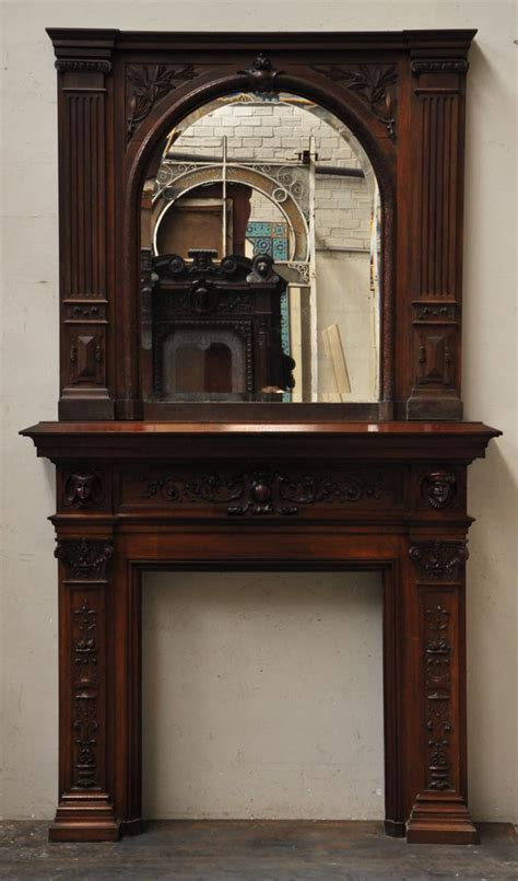 fireplace mantels neo renaissance style antique fireplace in carved walnut
