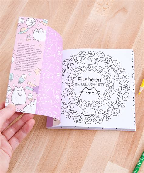 mini coloring book travel set pusheen shop