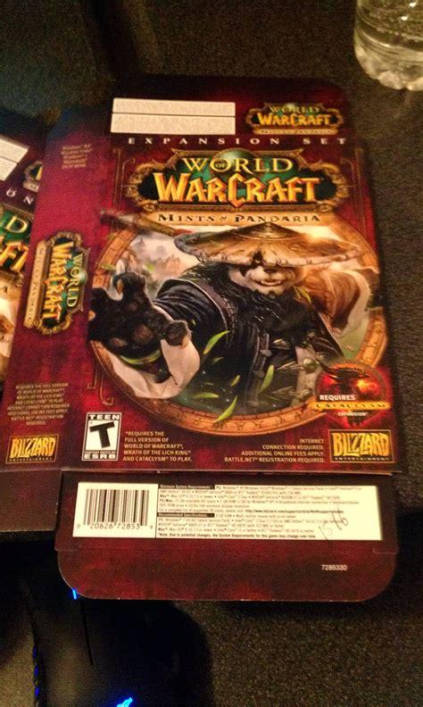 mists  pandaria box cover world  warcraft