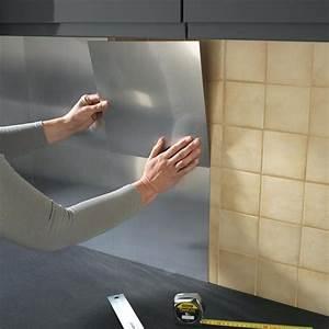 plaque d inox pour cuisine revetement mural inox pour With plaque imitation carrelage pour cuisine