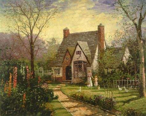 kinkade cottage painting cottage the limited edition kinkade studios