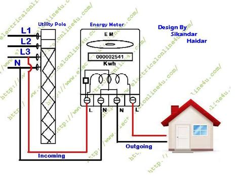 how to wire single phase kwh energy meter electrical