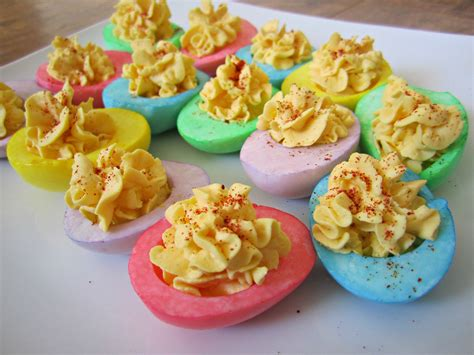 colored deviled eggs for easter easter treat ideas space