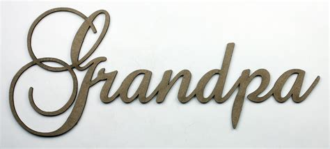 grandpa fancy chipboard word wantscrap