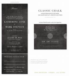 seal and send wedding invitations classic chalk by With all in one wedding invitations recycled