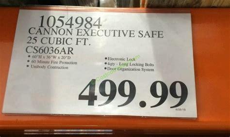 cannon executive safe  cubic ft csar costcochaser