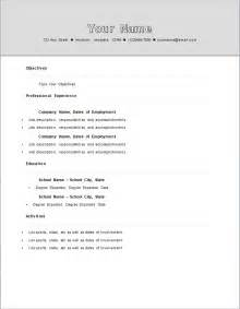 standard format for resume standard resume template learnhowtoloseweight net