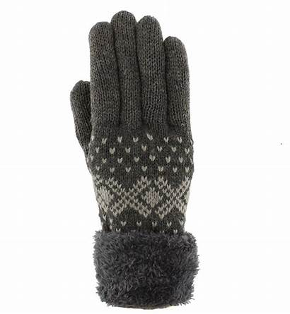 Gloves Fleece Fluffy Winter Lined Ladies