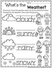 printable weather worksheets pre k spring preschool worksheets preschool activities