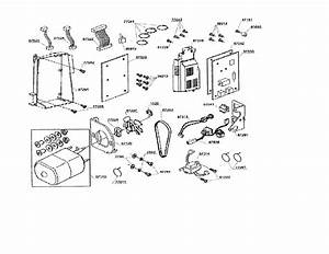 Main Motor  Circuit Board Diagram  U0026 Parts List For Model 7442cl Singer