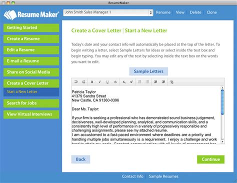 Resume Maker by Resume Maker Mac Business Management Software 25 Mac Pc