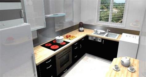 cuisine 9m2 avec ilot cuisine équipée avec l 39 évier sous la fenêtre