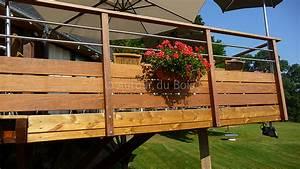 Balustrade En Bois : terrasse bois rambarde ~ Melissatoandfro.com Idées de Décoration
