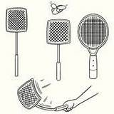 Clip Fly Swatter Flyswatter Vector Gograph Royalty Mosquito Simple sketch template