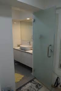 Frosted Glass Toilet Partition Door