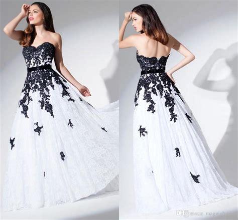 white and black wedding dresses lace dresscab