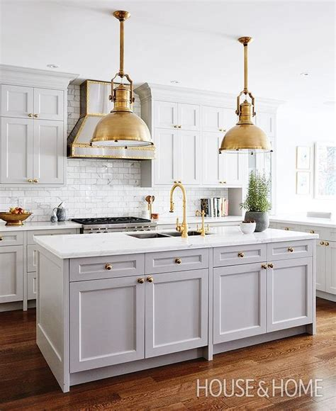 gray kitchen island  brass large country industrial