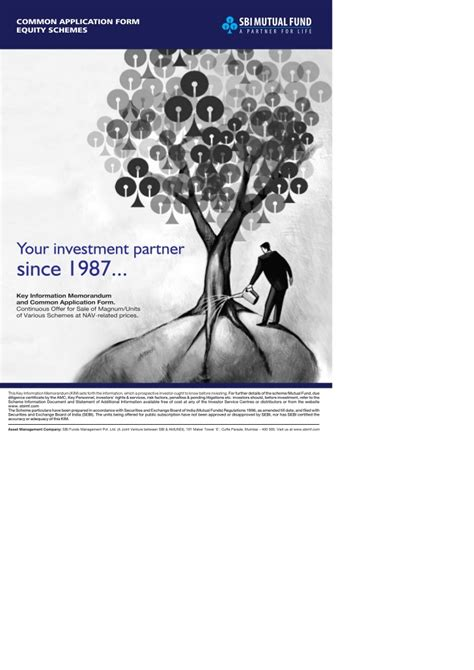 sbi mutual fund common application form equity  kim