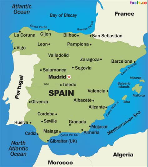 Map Of Spain Zaragoza.Map Spain Madrid Highlighted