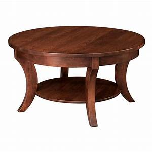 madison round coffee table shipshewana furniture co With amish furniture coffee table