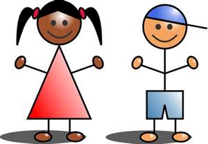 Stick Figure Children Clip Art