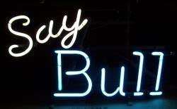 Schlitz Malt Liquor Say Bull Vintage Neon Beer Bar Sign Light