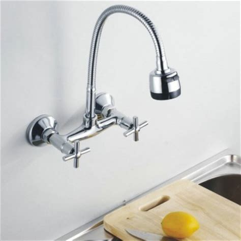 Wall Mounted Kitchen Faucet With Spray by Wall Mounted Rotate Mixer Tap Faucet Bathroom