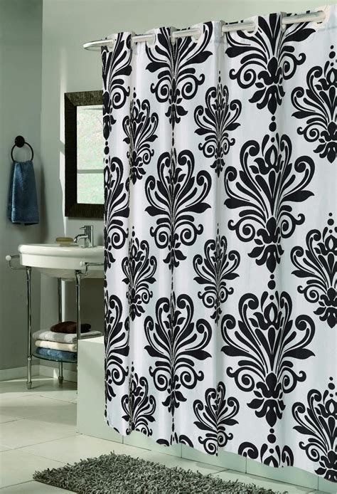 black and white shower curtains black and white bathroom gorgeous inspirations