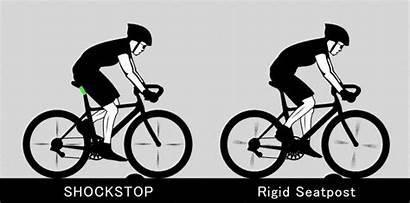 Suspension Seatpost Bike Shockstop Bumpy Road Rides