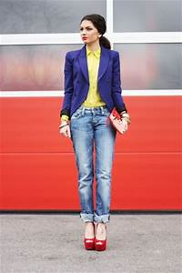 Blue Black Blazers Jeans Yellow Blouses Red Pumps | u0026quot;CHICu0026quot; by Woo_Love | Chictopia
