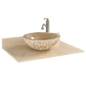 25 marble vanity top for vessel sink no faucet drilling ebay