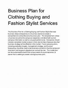 fashion business plan fashion business plan clothing With fashion startup business plan