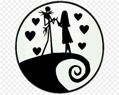Nightmare Before Christmas Jack And Sally Tattoo Stencil