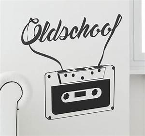 Old School Cassette Wall Sticker TenStickers