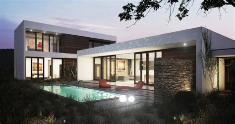One Story Modern House Plans by One Story Modern House Plan Wf2studio Modern Plan