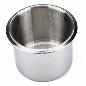 Small, Standard, Stainless, Steel, Drop, In, Cup, Holder