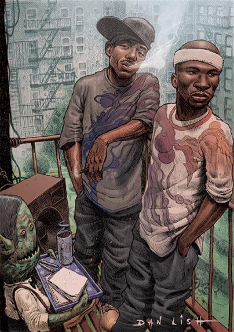 lish illustrates hip hop icons