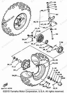 Yamaha Atv 1986 Oem Parts Diagram For Front Wheel