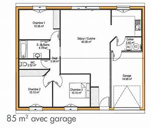 plan de maison simple gratuit maison moderne With plan construction garage gratuit