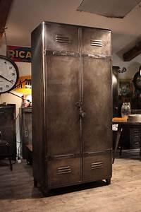 Meuble Industriel Ancien Vestiaire Deco Loft Industrial