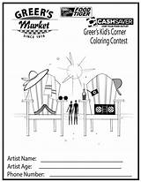Coloring Corner Sheets Summer Kid Pages sketch template