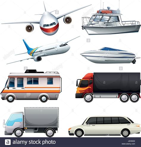 Different Types Of Vehicles Illustration Stock Vector Art