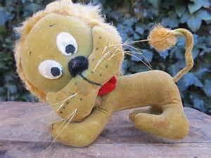 Vintage Stuffed Lion Toy