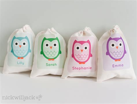 owl favor bag owl party favor bags owl personalized favor