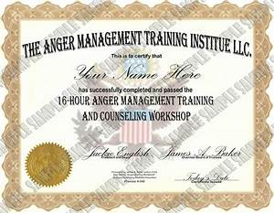 anger management 16 hour 24 lesson anger management class With anger management certificate template