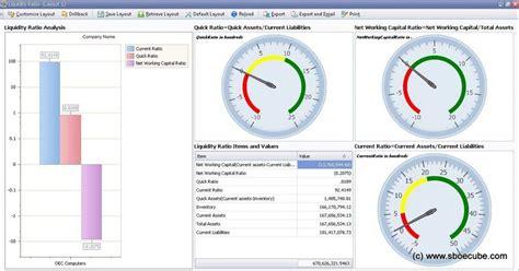 liquidity ratio analysis dashboard detailed