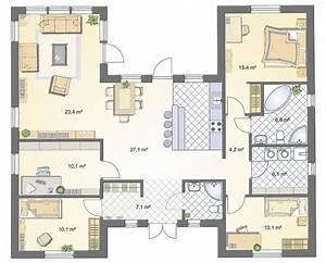Grundriss Einfamilienhaus 140 Qm : bungalow 140 qm ihr traumhaus ideen ~ Markanthonyermac.com Haus und Dekorationen