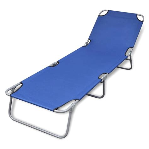 chaise longue pliable vidaxl co uk foldable sun lounger with adjustable