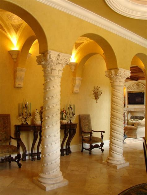 Custom Designed Marble and Stone Columns by BT Arch Stone
